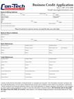 Con-Tech Credit Application